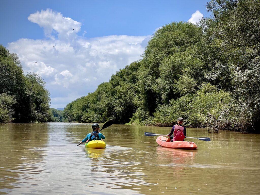 Kayak down the Chone River